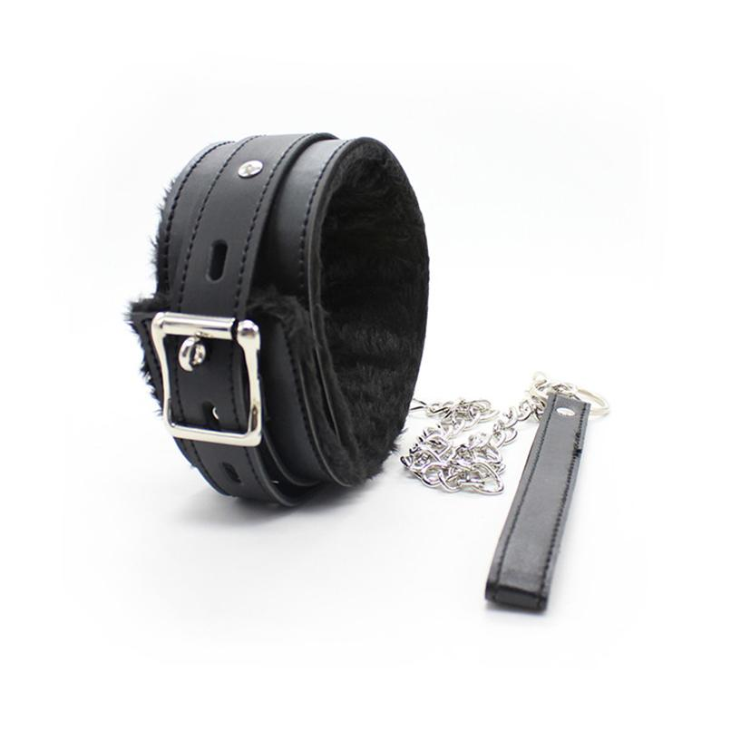 Sex Leash Cuffs For With PU Sexy Neck Neck BDSM S&M Harness Collars Flirting Restraints Leather Toys Bondage Women Adult Game Djpcl
