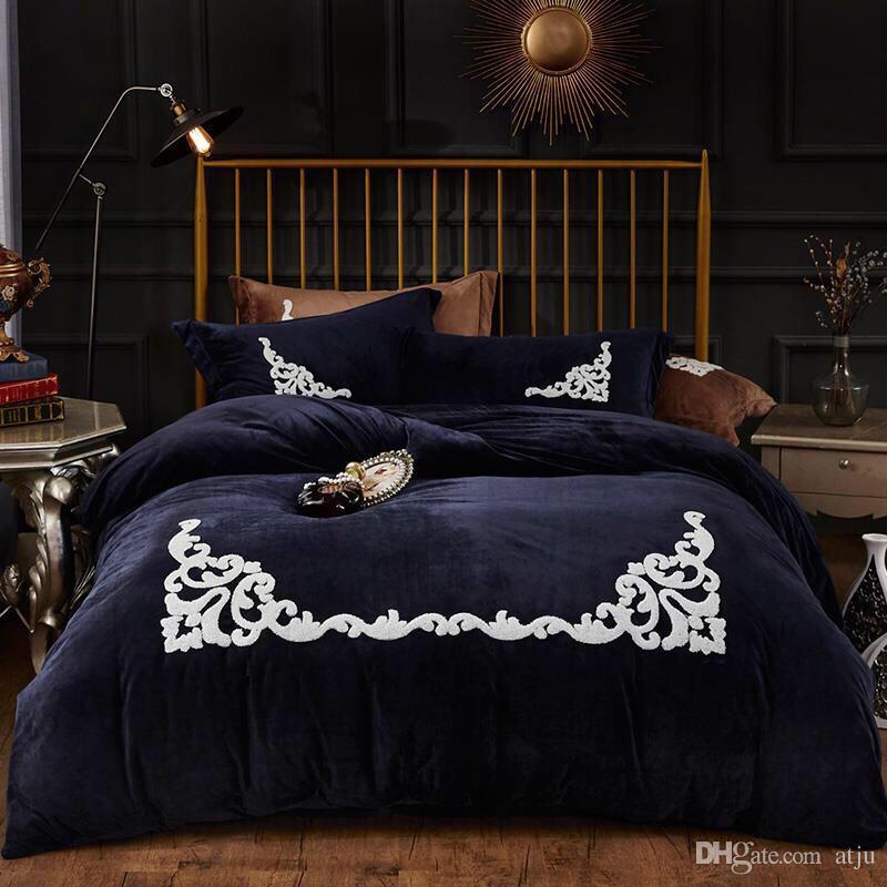 Atacado-Algodão poliéster jogo de cama rei Paris torre consolador capa de edredão conjunto lençol fronha cinco tamanho não quilt têxteis lar