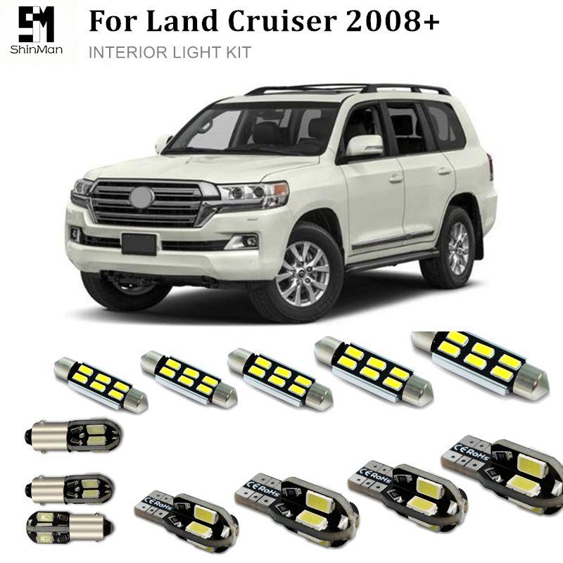 Shinman 16X Hata Ücretsiz Araba LED Parlak Araç İç Işıklar Kiti Paketi toyota Land Cruiser 2008 + İç led kitleri