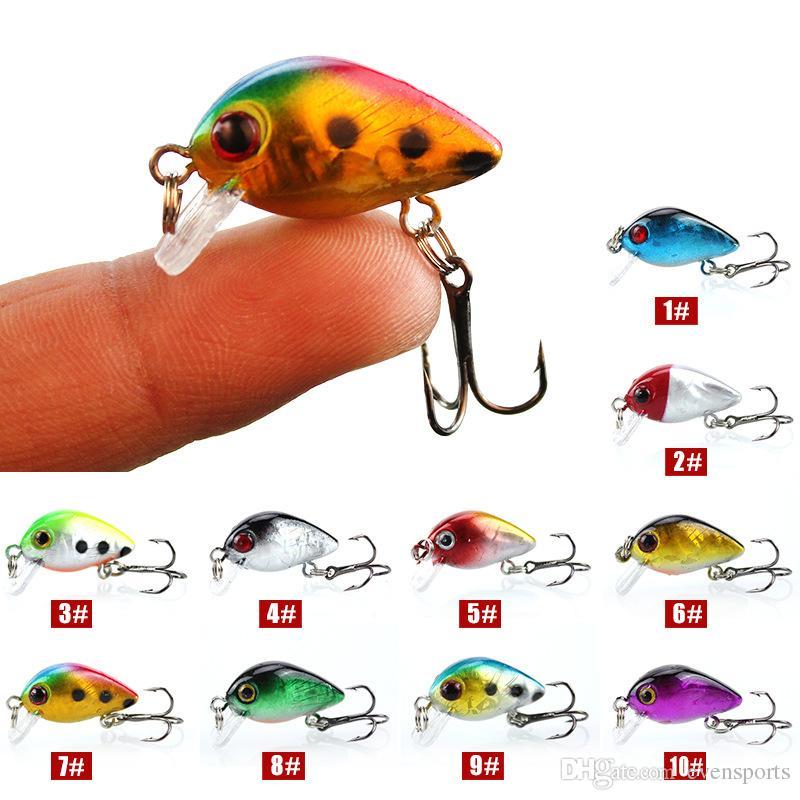 Рыболовную приманку мини гольян кривошипно приманки малый размер воблеры 1.5 г / 3 см искусственные приманки 10 цветов