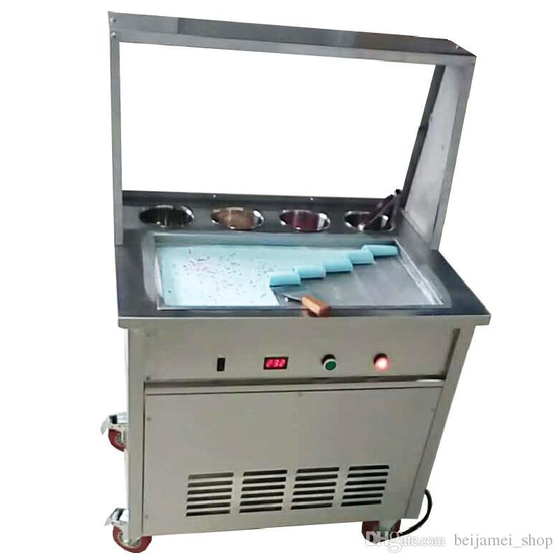 Машина крена мороженого BEIJAMEI зажаренная Таиландом 55*30*2.5 создатель 110V/220v йогурта квадратного мороженного лотка cm свернутый