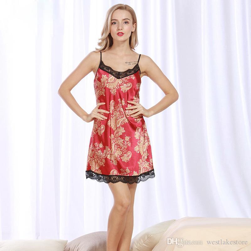 One Piece Mini Sleepshirt per le donne Floral Sexy Casual Soft Vintage Sleepwear Girls Camicie da notte New Homewears