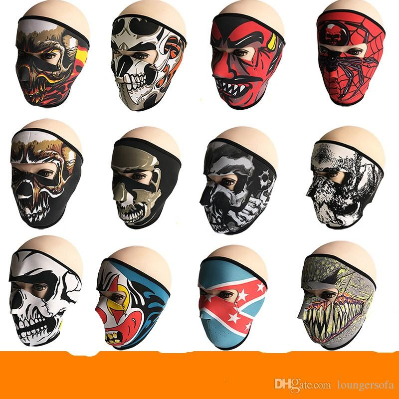 New Pattern Skull Face Mask Colors Halloween Costume Party Outdoors Motorbike Keep Warm Scarf Ski Snowboard Sports Towel 6fd W