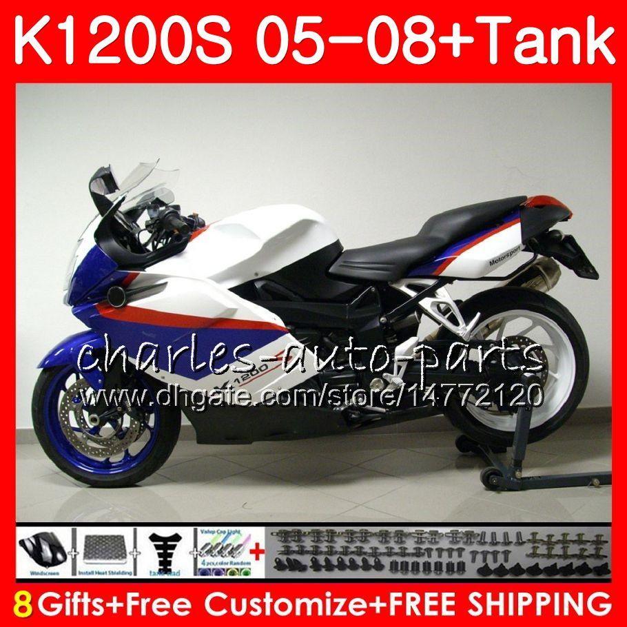 Corpo para BMW K-1200S K 1200 S 05 10 K1200 S 05 06 07 08 09 10 103 HM. 38 K 1200S K1200S quadro branco 2005 2006 2007 2008 2009 2010 Kit de Carenagem