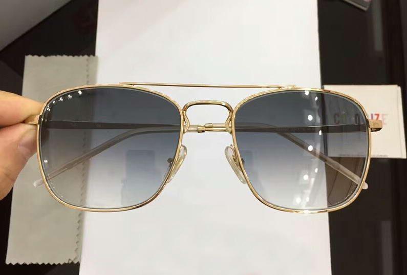 Plata / gris 3588 Gafas de sol 55-18-140 Caja de diseño de sol Cuadrado Sonnenbrilla Gafas de moda Humo nuevo con gafas Hilci
