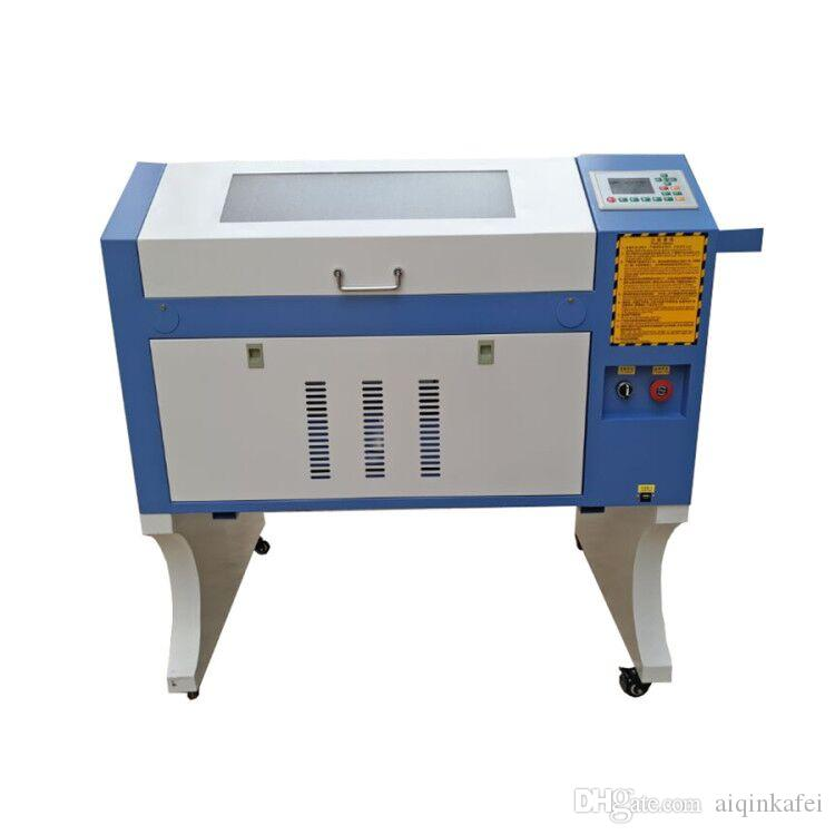 6040 laser engraving cutting machine 80w for wood acrylic rubber with Ruida controller electrical lifting table