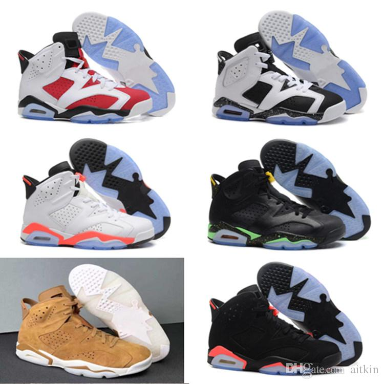 6s carmine BASKETBALL SHOES kids 6s UNC BLACK BLUE WHITE INFRARED CHROME Oreo BIG BOY girl basketball shoes