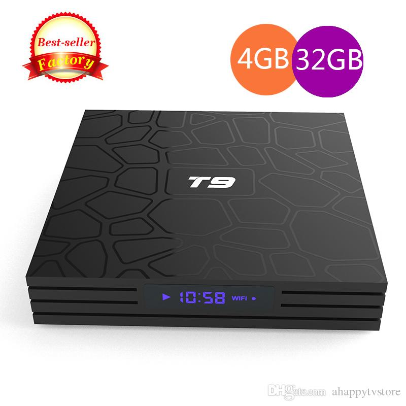 new photos cheap for discount detailed pictures T9 Android 8.1 Smart TV Box 2.4 WiFi RK3328 4GB 32GB 4GB 64GB Quad Core Set  Top Box 4K Media Player Better MXQ PRO TX3 Tv Set Top Boxes Best Tv Boxes  ...