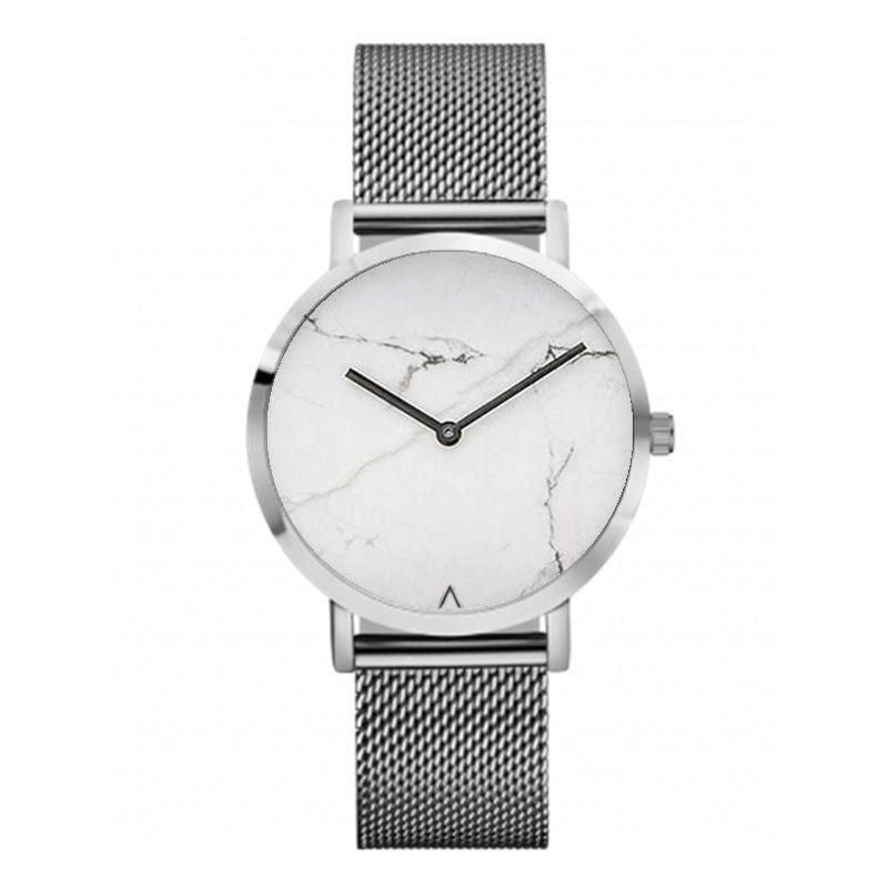 Vintage Brand Woman Fashion Watch Minimalist Hot Marble Dial Clock Men Women Retro Luxury Gold Wristwatches Lovers Watch LZ2188