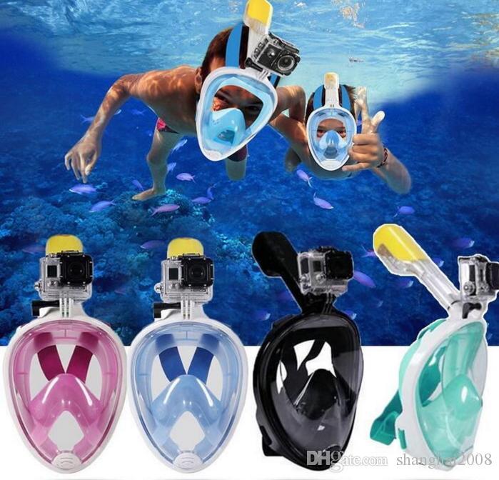 2019 تحت الماء الغوص قناع الغوص غص مجموعة تدريب الغوص الغوص mergulho كامل الوجه قناع لمكافحة الضباب لا كاميرا 6 ألوان