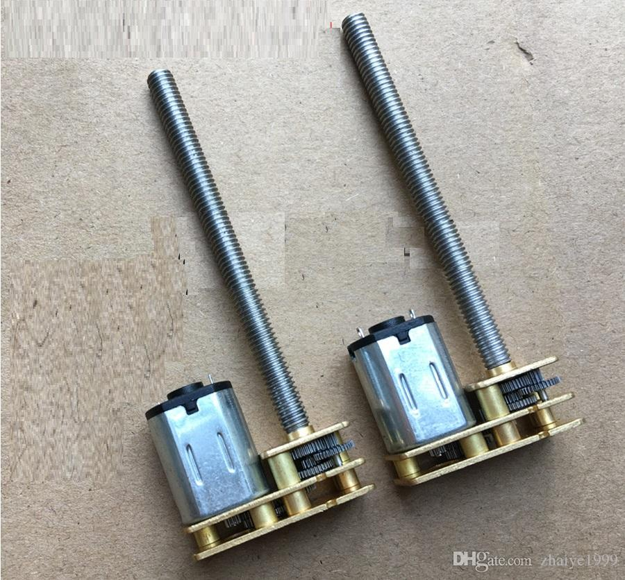 2PCS N20 플립 -M4 * 55mm 그레이트 나사 기어 모터 마이크로 스레드 모터 DIY 소형 DC 모터와 55mm 길이 샤프트