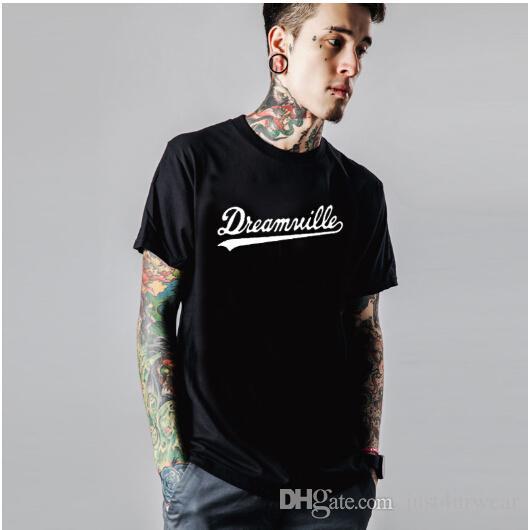 Letni Lovers Crew Neck T Koszulki Dreamville List Drukuj Solidne Kolor Z Krótkim Rękawem Tees Kobiety Mężczyźni Casual Moda Sweethearts Topy