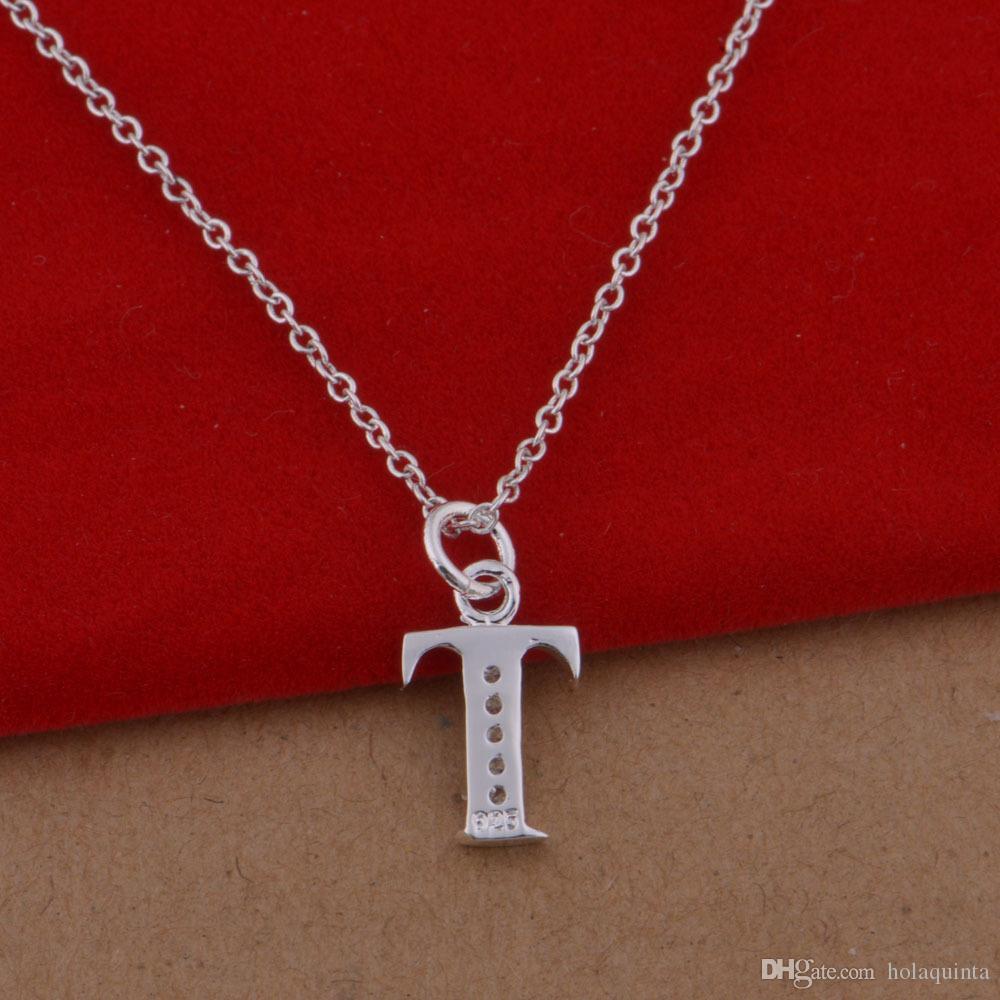 Nuevo collar colgante cruzado de plata de ley 925 para mujer