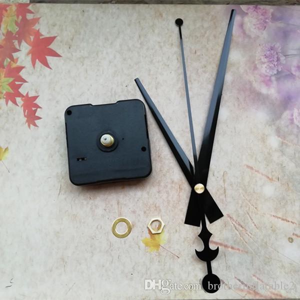 Partihandel 100st 12mm Axel Silent Sweep Quartz Klockrörelse Mekanism Reparation Kit med Stora Arms