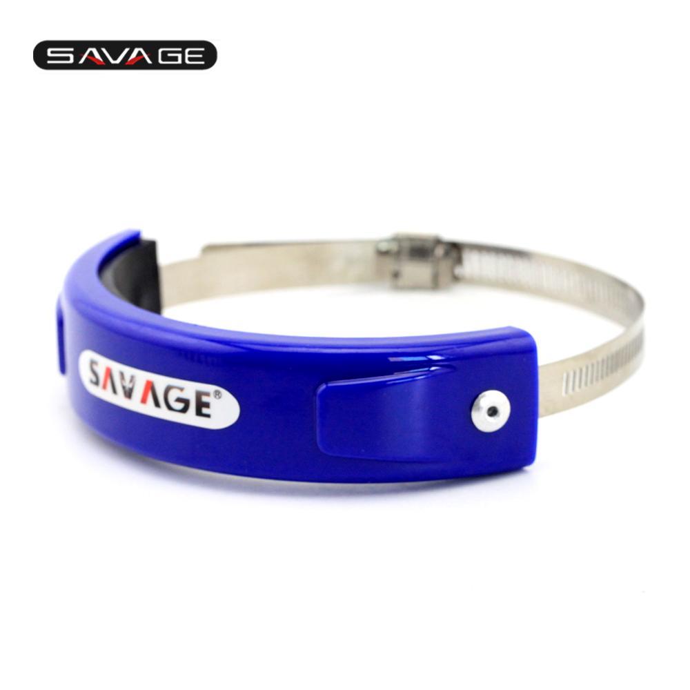 Xingfuqy Accesorios de escape de la motocicleta silenciador//oval redondo protector puede cubrir for HUSQVARNA FE 501//450//350//250 FX 350//450 A hoy Color : Blue