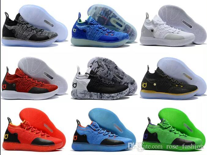 Discount KD 11 Basketball Men Shoes EP Oreo Ice Blue Mens Athletics Sports Shoe Kevin Durant 11s Outdoor Sneakers Trainers Boots Footwears