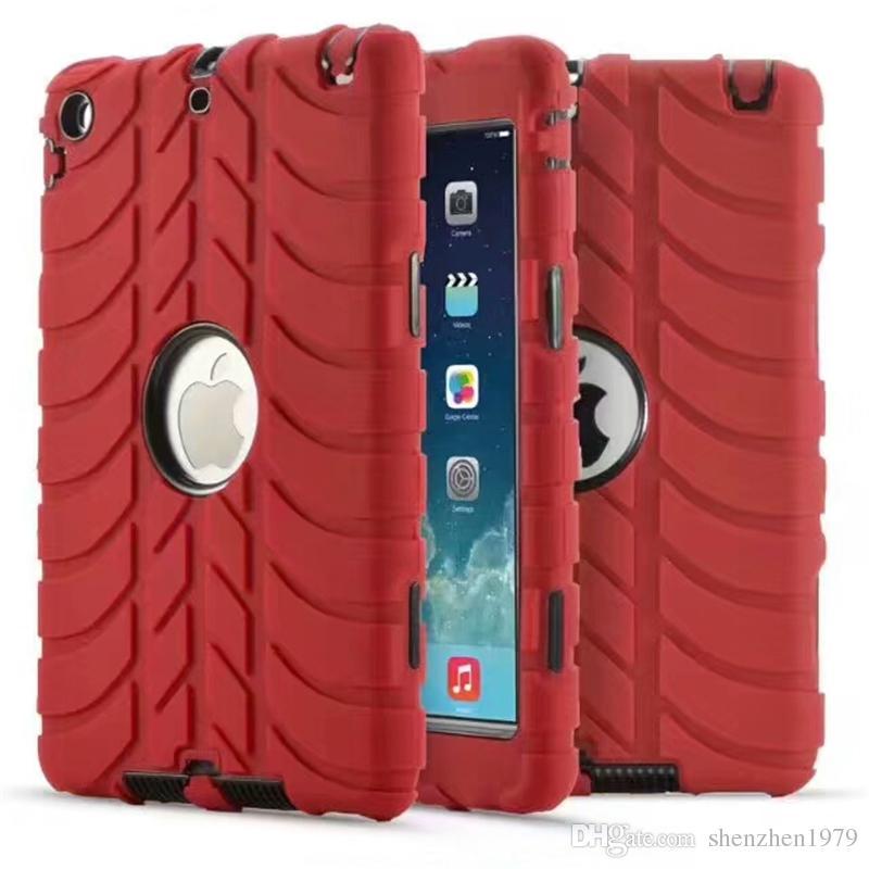Armor Hybrid Hard PC Soft Slicone GEL Case For Ipad Mini 1 2 3 4 Mini4 tablet Ballistic Shockproof Plastic Defender Skin Cover Luxury 1pc