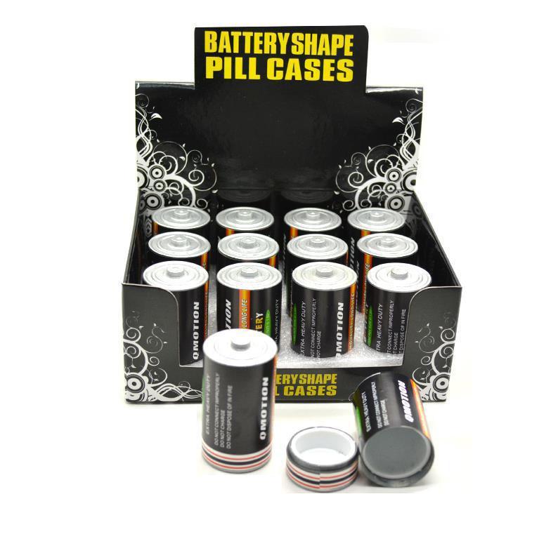 2018 Nuovo deposito di alta qualità a buon mercato all'ingrosso Batteria Secret Stash Diversion Cassaforte Pill Box Hidden Money Coins Container Case