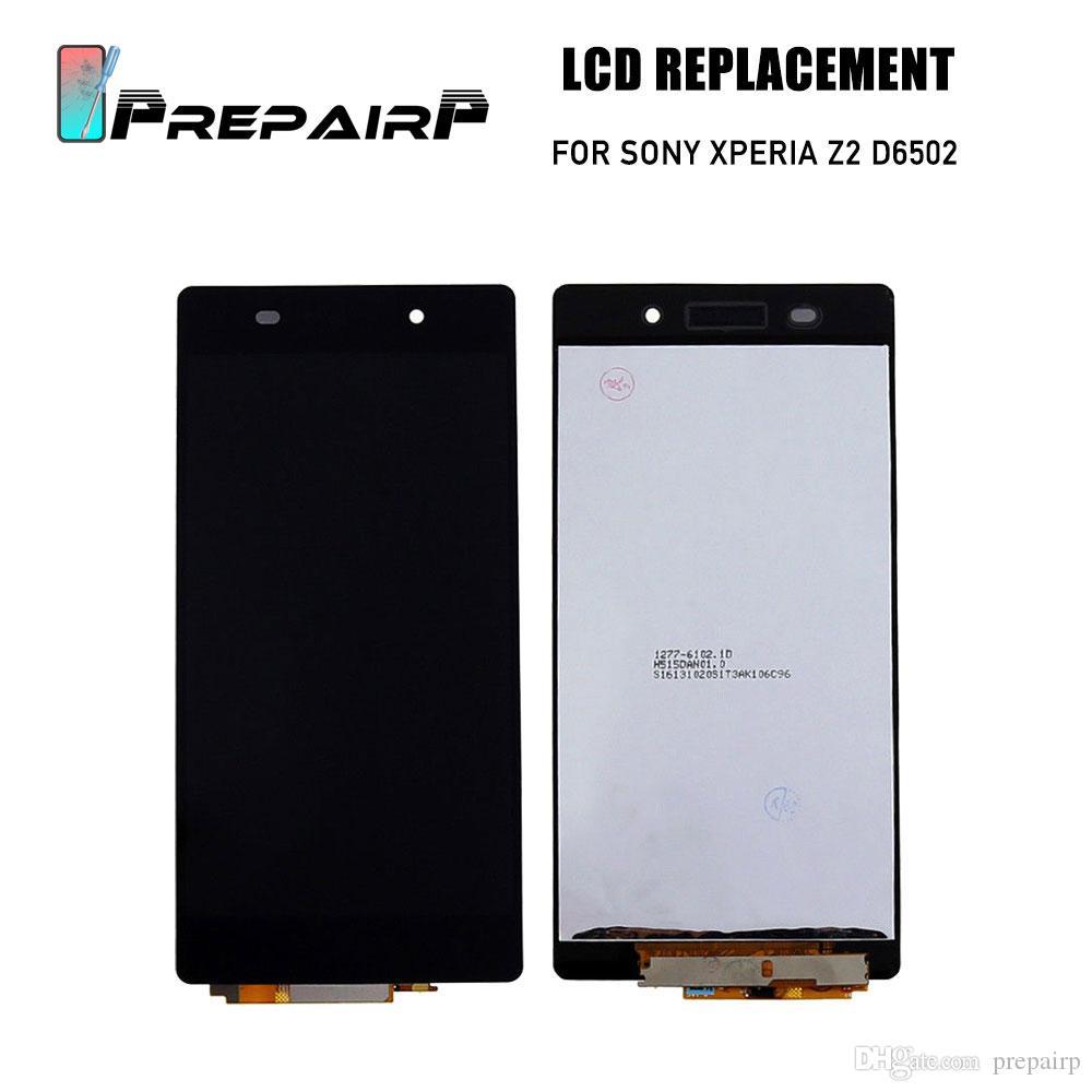 Sony Xperia Z2 L50W D6502 D6503 Için LCD Ekran Ekran değiştirme Ücretsiz Ekran ile Dokunmatik Ekran Digitizer Meclisi ile LCD Ekran