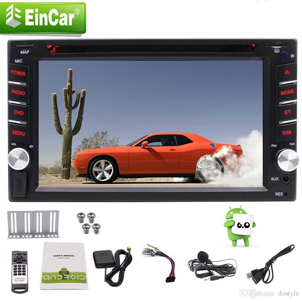 Doble Din 6.2 '' Pantalla táctil Android 6.0 GPS Estéreo Reproductor de CD y DVD para automóvil En el tablero Autoradio Headunit Estéreo Bluetooth, navegación GPS