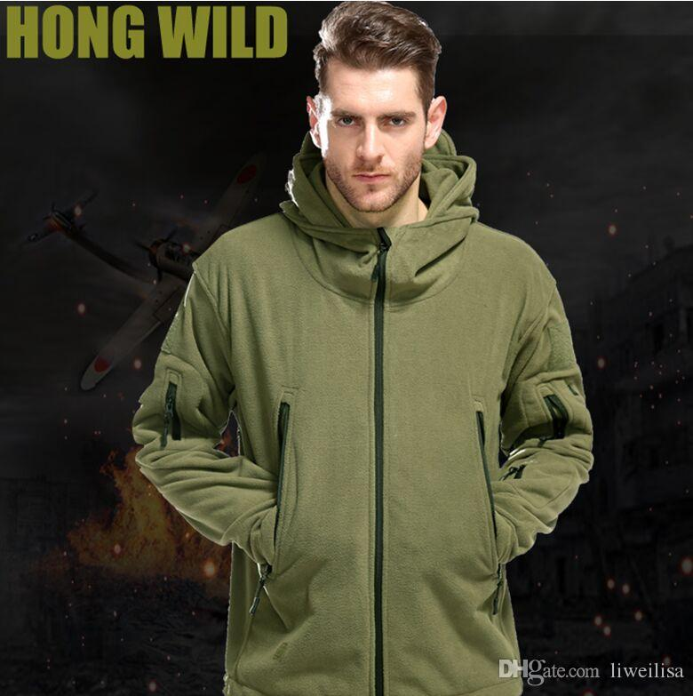 Outdoor Softshell Fleece Jacket Men's Army Polartec Sportswear Thermal Hunting Hiking Sport Hoodie Jacket 2018 Military Tactical