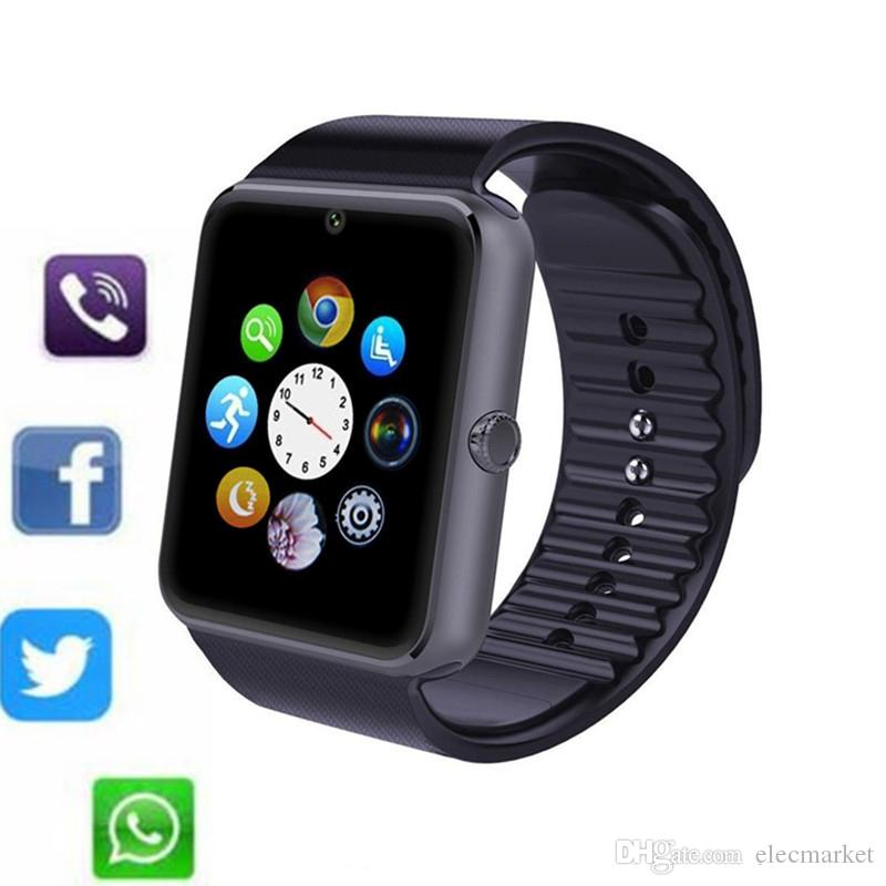 GT08 Bluetooth Smart Watch with SIM Card Slot Health Watchs for Android Samsung and IOS Apple iphone Smartphone Bracelet Smartwatch