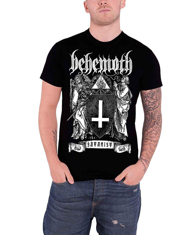 Nouveau Grand homme t-shirt à manches longues Behemoth-Les satanistes