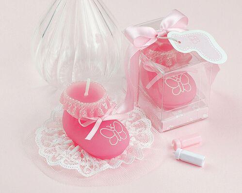 50 adet bebek duş iyilik mum hediye - Bebek Mum zanaat mum bebek iyilik doğum günü partisi dekorasyon Ayakkabı