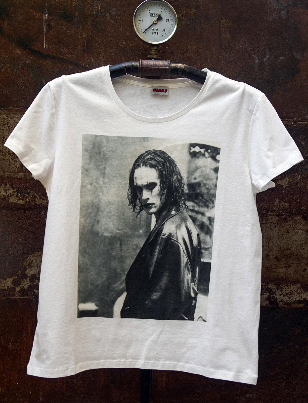 The Crow Brandon Lee Soundtrack Cotton Tees Sz S-3XL White Men/'s T-shirts