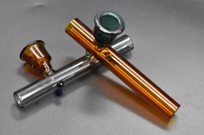 al por mayor tubos de tabaco de mano de laboratorio Mini apisonadores de fumar Pipas de vidrio Pipa de fumar Pequeño Tubo de tabaco de forma de cuerno Popular