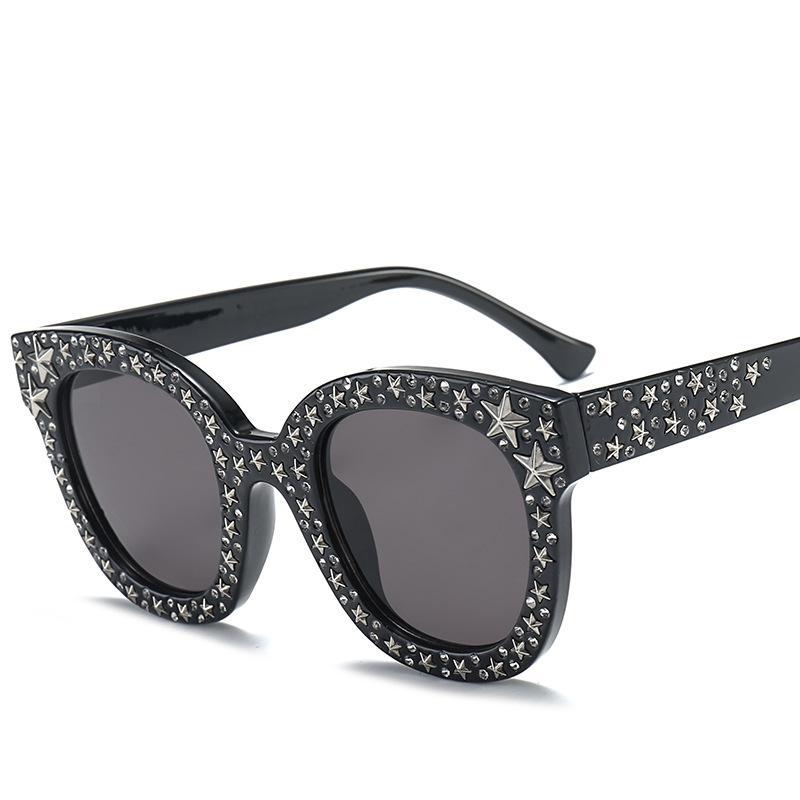 Diamond Sunglasses Women Brand Design Flash Square Shades Female Mirror Sun Glasses Oculos Lunette