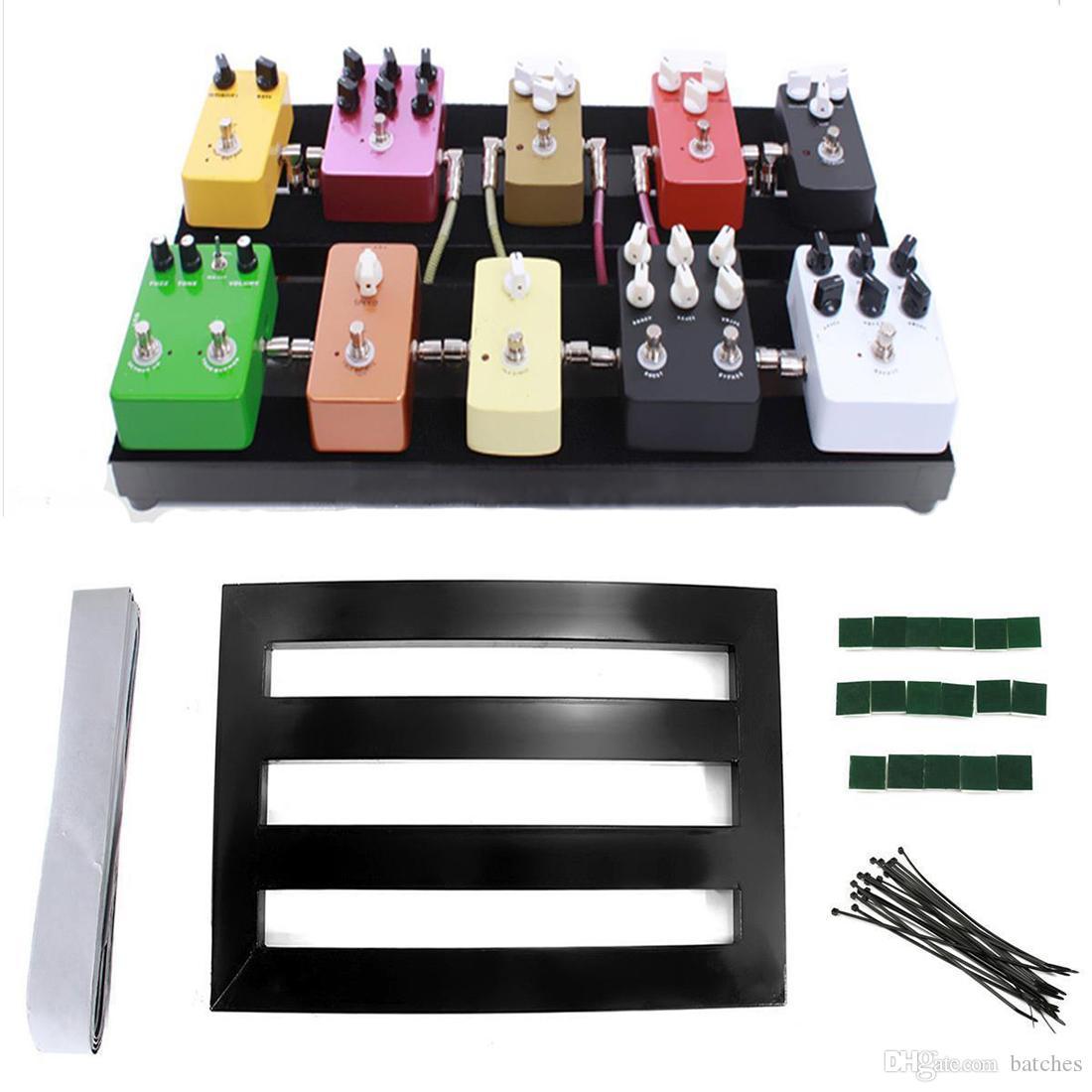 Tablero del pedal de los efectos del pedal de Pedalboard de la guitarra con cinta adhesiva-MÚSICA del forro