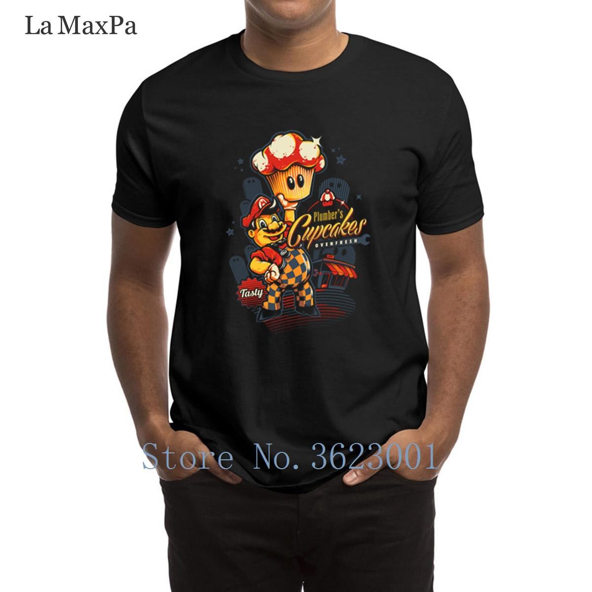 Create Cool Men T Shirt Plumber's Cupcakes Men's T-Shirt Quirky 2018 Tshirt Basic Cotton Simple Tee Shirt For Men Tee Tops