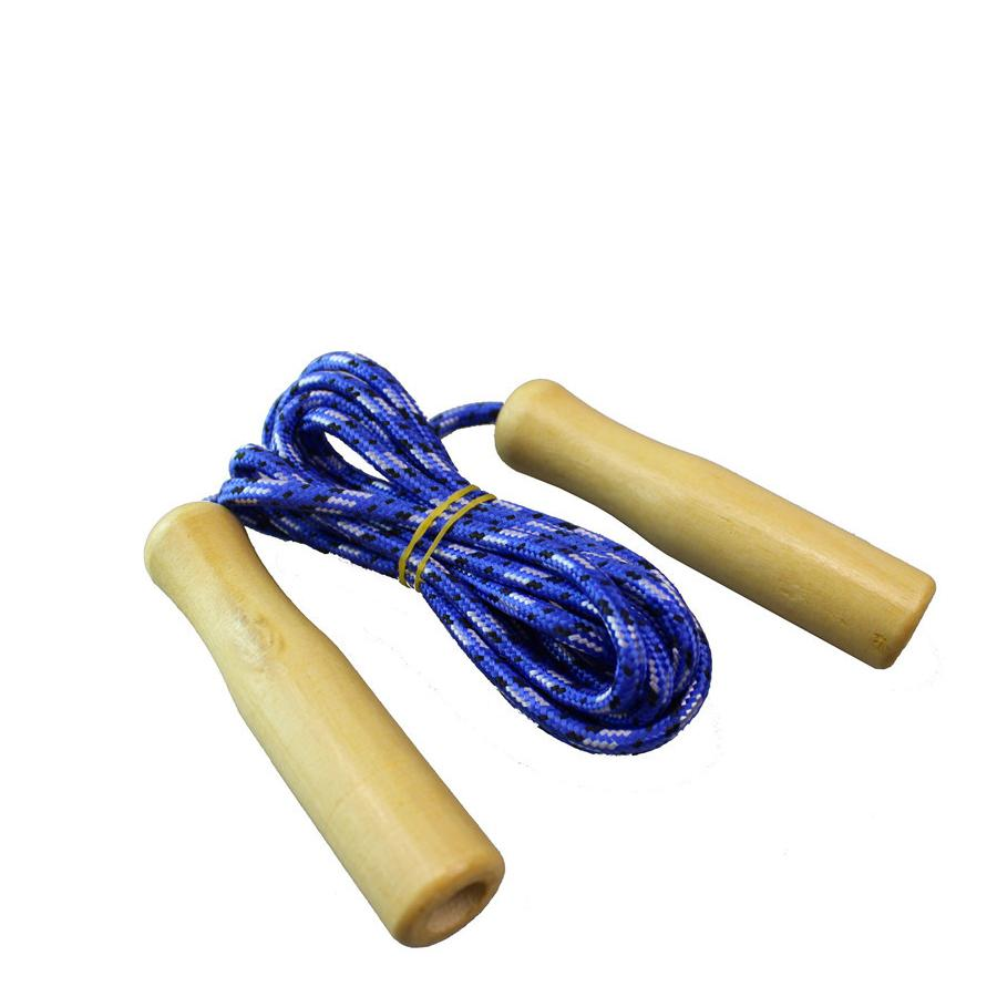 Kids Skipping Rope Wooden Handle Jump Play Sport Exercise Workout Toy 2.4M PT