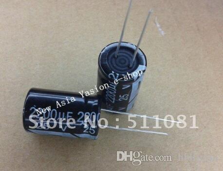 20 sztuk 25V 2200uf 13 * 21mm 25V 2200uf 13 * 21 elektrolityczny kondensator