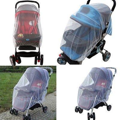 Cibinlik Buggy Pram Koruyucu Cot Bebek arabası Cibinlik Midge Böcek Böcek Beyaz