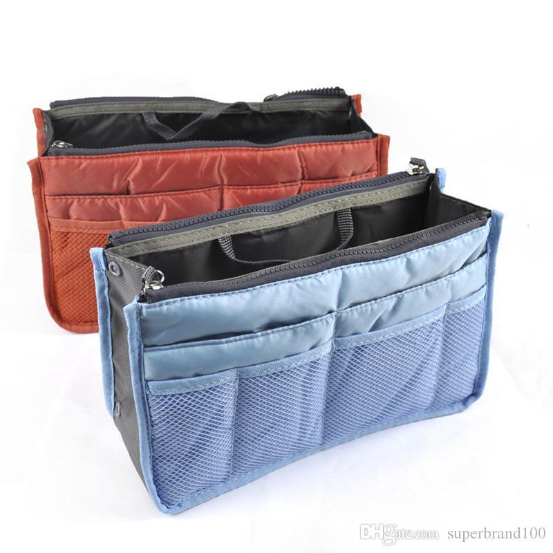 Neue Damenmode Tasche in Taschen Kosmetische Aufbewahrungsbox Veranstalter Make-up Lässig Reise Handtasche Make-up Kulturbeutel Kits