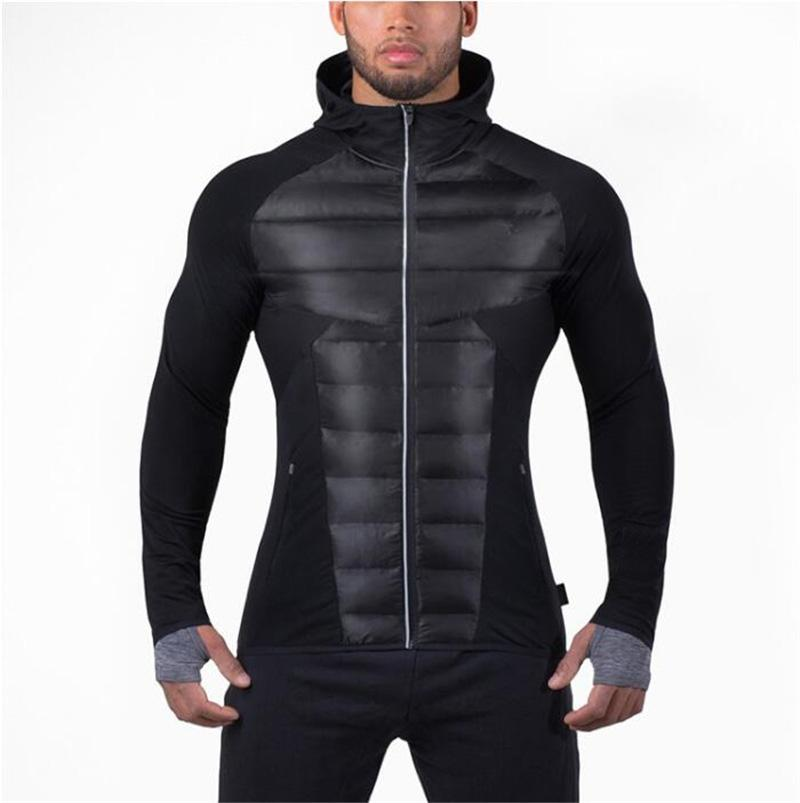 Brand Mens gyms hoodie sweatshirt bodybuilding Jacket Autumn Winter warm sportwear Men Tracksuit Men Zipper Coat fitness Hoodies