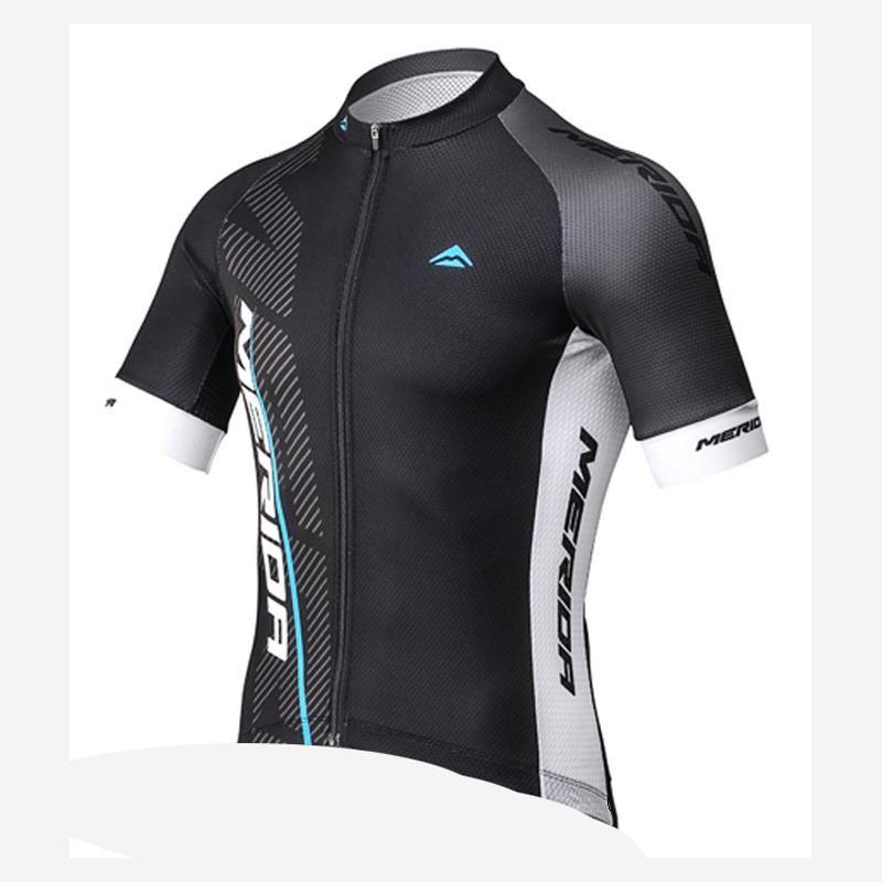 Merida estate uomo manica corta in bicicletta jersey traspirante veloce bicicletta a secco vestiti mtb abbigliamento bicicletta maillot