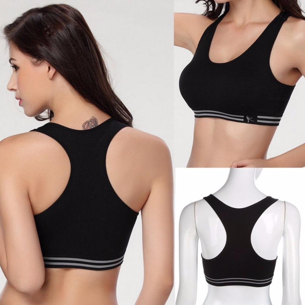 Frauen nahtlose Fitness Yoga gepolsterte Sport BH Workout Racerback Tank Top Bra