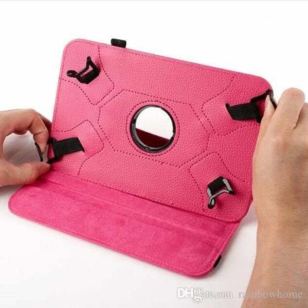 Universale 360 Rotating Flip PU Custodia in pelle per iPad 7 pollici Tablet da 8 pollici Tablet Samsung iPad