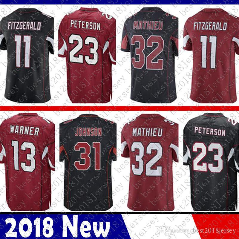 Limited Arizona 11 Larry Fitzgerald Jersey cardenal Kurt Warner 13 31 David Johnson Carson Palmer jerseys