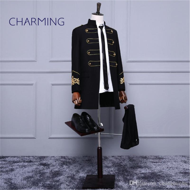 In the long style formal wear for men bridegroom wedding dress groom suit male welcome suit men's wedding suit trench coat