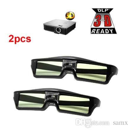 2 pcs 3D Óculos de Obturador Ativo DLP-LINK óculos 3D para Xgimi Z4X / H1 / Z5 Optoma Afiada LG Acer H5360 Jmgo BenQ w1070 Projetores