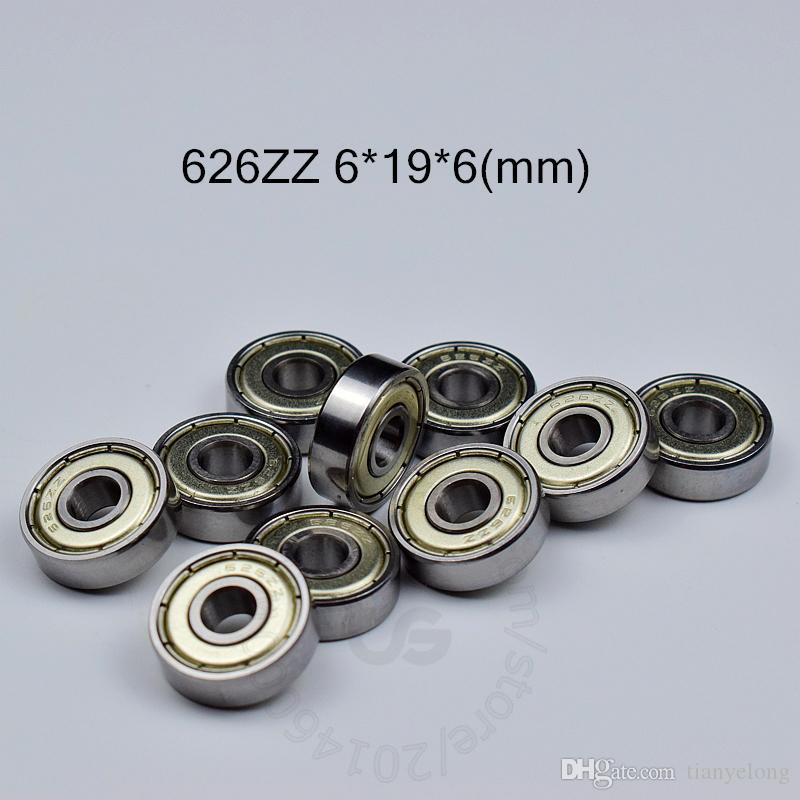 626ZZ rolamentos 10pcs de metal fechados, munidos diminuto transporte livre 626 626Z 626ZZ 6 * 19 * aço cromo 6 milímetros de sulco profundo rolamento