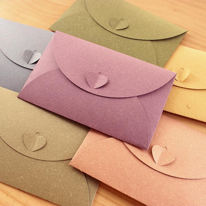 QSHOIC 50pcs / set sobres para invitaciones weeding envelope 17.5 * 11cm (1inch = 2.54cm) sobres de papel sobres de invitación de boda