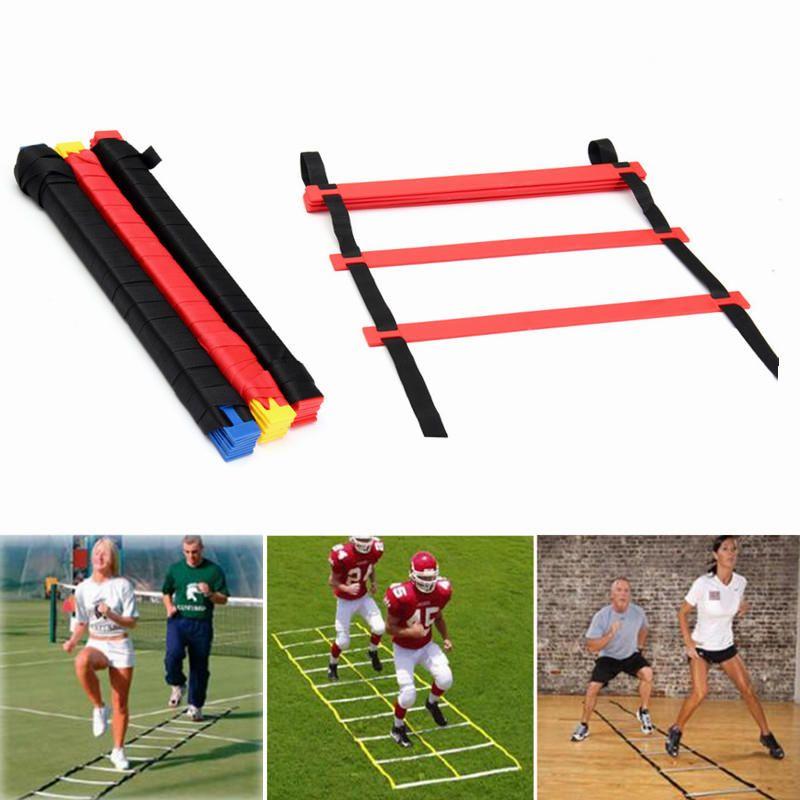 Esportes ao ar livre grade de treinamento de futebol escada de treinamento de energia de plástico escada de agilidade escada velocidade equipamentos de treinamento de futebol copa do mundo