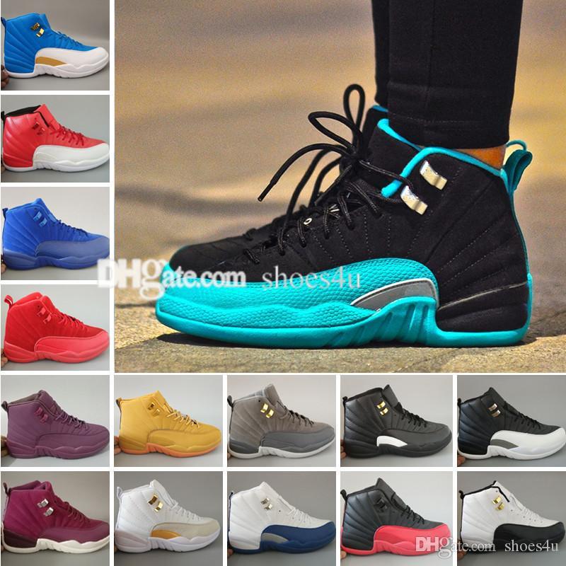 Comercio al por mayor Air 12 Burdeos Zapatillas de Baloncesto Hombres Zapato Deportivo Burdeos 12s Deportes Zapatillas Deportivas de Alta Calidad Zapatillas de deporte Tamaño 5.5-13