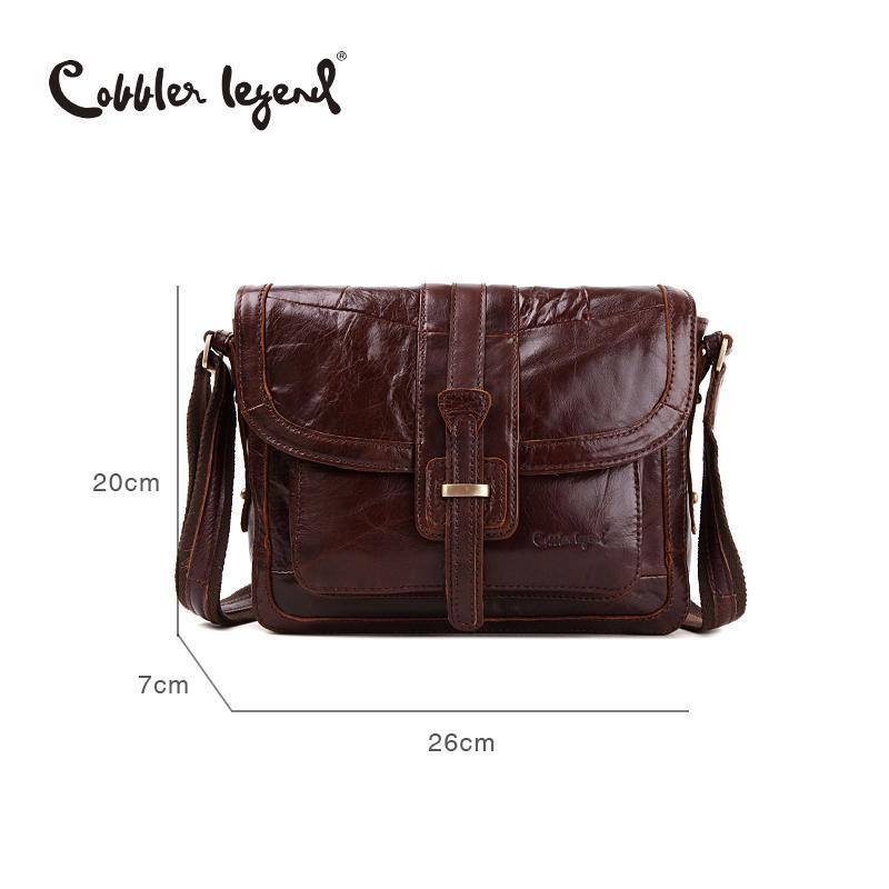 8a8c661e88 Wholesale- Cobbler Legend Brand Designer 2016 New Fashion Vintage Genuine  Cowhide Leather Women s Shoulder Messenger Bags Handbag 8068189-1