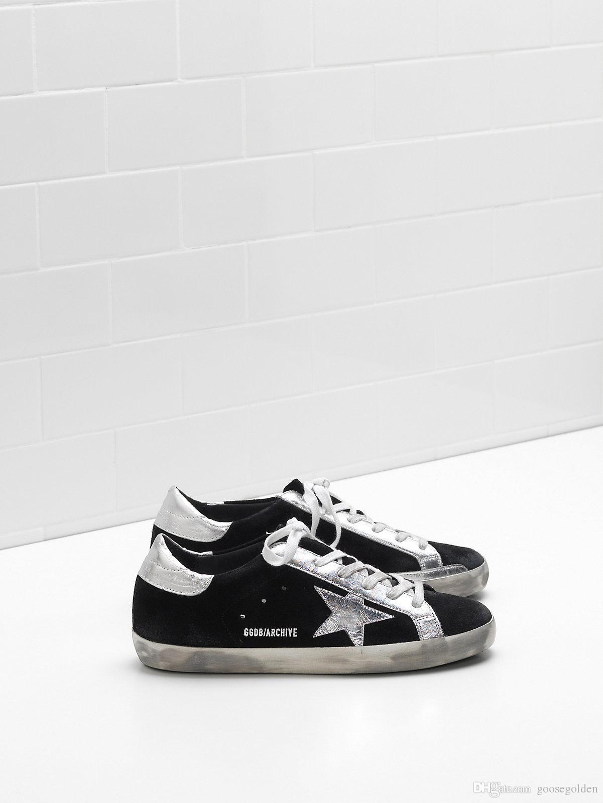 Heel Schuhe Stern Und Metallic Archive Details Tab Echtem Superstar Oberen Aus Italien Kalbsleder Marke Sneakers Großhandel In Leder A5L4j3Rq
